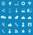 Network color icons on blue background vector image