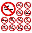 No smoking - red symbols vector image vector image