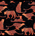pattern of cheetahs surrounded by exotic vector image