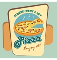 Pizza round advertising poster vector image