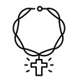 rap chain cross icon outline style vector image
