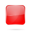 red shiny 3d button web square icon vector image