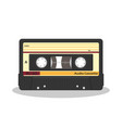 retro audio cassette isolated on a white vector image
