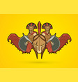 roman or greek helmet and angry warrior vector image vector image