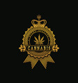 royal golden cannabis vector image vector image