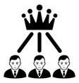 sad hierarchy men black icon vector image vector image