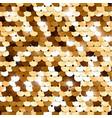 seamless golden sequins vector image vector image