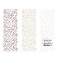 seamless love borders wedding floral pattern with vector image