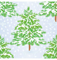 seamless texture christmas tree with snow vector image vector image