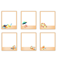 Set of Blank Photos with Beach Item Pictures vector image
