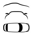 set of car signs vector image vector image