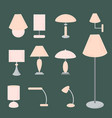 set of different types of indoor lighting vector image vector image
