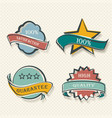set of flat labels paper promotion tags vector image