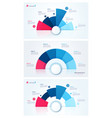 set of stylish pie chart circle infographic vector image vector image