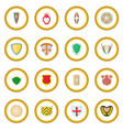 shield icon circle vector image vector image