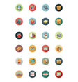 Shopping Flat Colored Icons 1 vector image vector image