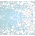 Snow on blue background vector image