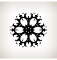 Snowflake Merry Christmas vector image
