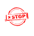 Stop rubber stamp on white vector image vector image