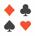 suit playing cards vector image