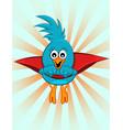 super blue bird vector image
