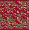 vintage cherry seamless pattern vector image vector image