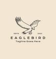 vintage hipster line art eagle bird logo icon vector image vector image