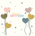 white dotted background with decorative balloons vector image