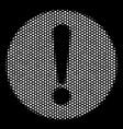 white pixel problem icon vector image vector image