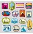 World famous monuments and landmarks labels vector image vector image