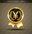 yen golden symbol vector image