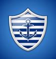 Anchor badge vector image