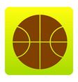 basketball ball sign brown vector image