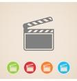 film clap board cinema icons vector image