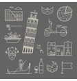 Italy icons vector image