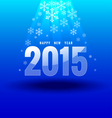 Happy new year 2015 under light vector image
