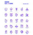 flat line gradient icons design-restaurant and vector image