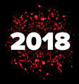 2018 happy new year red and white vector image vector image