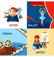 Art And Culture Design Concept Set vector image vector image
