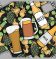 background of beer vector image vector image