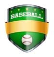 Baseball Shield badge vector image vector image