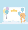 bashower cute little cat balloons clouds vector image vector image