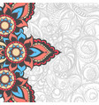 beautiful indian pattern vector image vector image