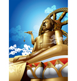 Big buddha vector image vector image