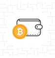 bitcoin wallet on white background vector image vector image