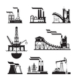 black factory icons set on gray vector image vector image