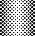 Black white seamless vertical dot pattern vector image vector image