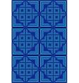 blue Geometric Pattern 2 vector image