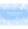 Blue New Year banner with snowflakes vector image