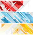 bright technology geometric abstract banners vector image vector image